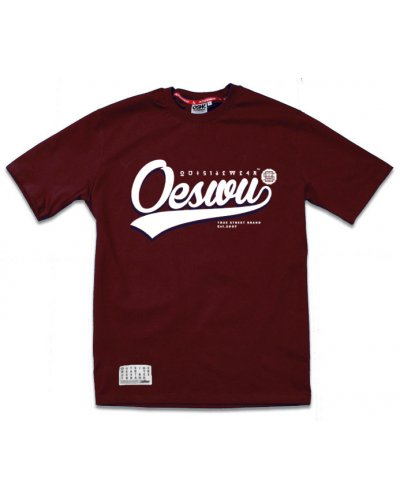 "T-shirt OSW OUTSIDEWEAR ""Baseball"" bordo"