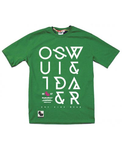"T-shirt OSW OUTSIDEWEAR ""Crooked"" zielony"
