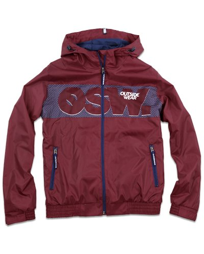 "Kurtka Wiatrówka Zip ""Windbreaks"" bordo"
