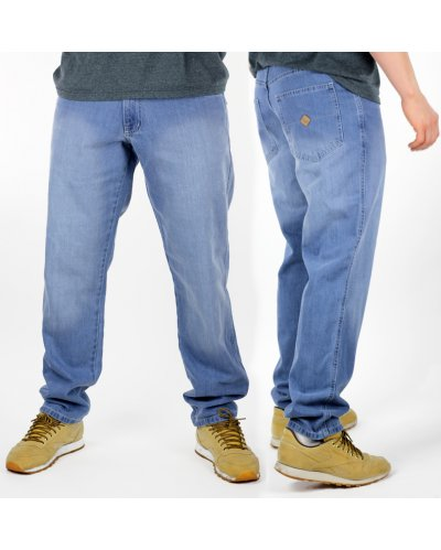 "Spodnie jeansowe OSW OUTSIDEWEAR regular ""Stripe"" light blue"